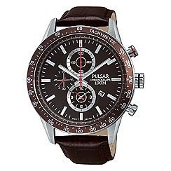 Pulsar - Men's stainless steel chronograph strap watch