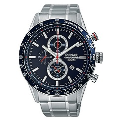 Pulsar - Men's stainless steel chronograph bracelet watch