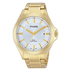 Pulsar - Men's gold plated stainless steel bracelet watch