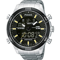 Pulsar - Men's stainless steel analogue and digital bracelet watch