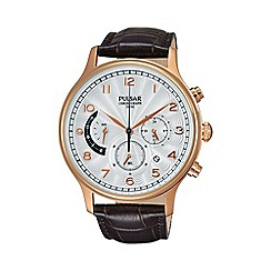 Pulsar - Men's rose gold chronograph strap watch