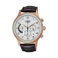 Pulsar - Men's rose gold chronograph strap watch