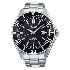 Pulsar - Men's solar stainless steel bracelet watch