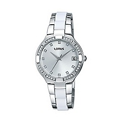 Lorus - Ladies white & silver wrap bracelet watch rh921fx9