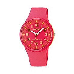 Lorus - Ladies pink silicone strap watch