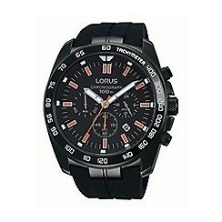 Lorus - Gents black silicone strap chronograph