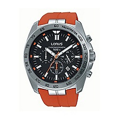 Lorus - Gents orange silicone strap chronograph