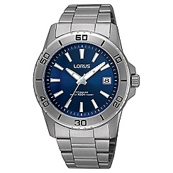 Lorus - Gents titanium sports bracelet watch with blue dial