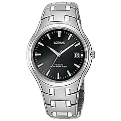 Lorus - Gents titanium dress braclet watch with black dial