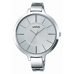 Lorus - Ladies large silver dial bracelet watch