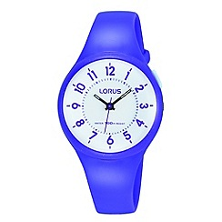 Lorus - Childrens' purple polyurethane strap watch