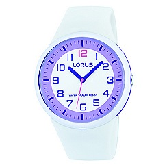 Lorus - Childrens' white silicone strap watch