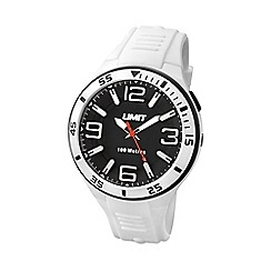Limit - Unisex white silicone strap watch