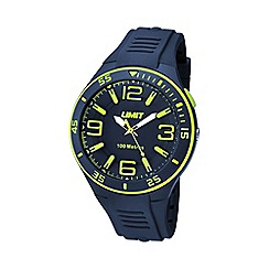 Limit - Unisex navy silicone strap watch
