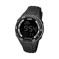 Limit - Unisex black digital silicone strap watch