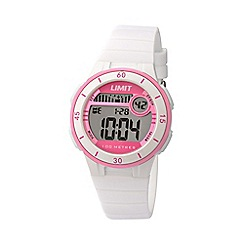 Limit - Unisex white digital mulifunctional silicone strap watch 5555.24