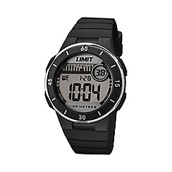 Limit - Unisex black digital mulifunctional silicone strap watch