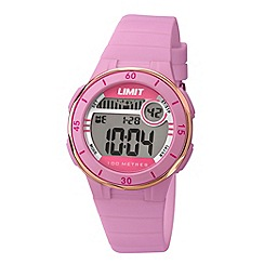 Limit - Unisex pink digital mulifunctional silicone strap watch