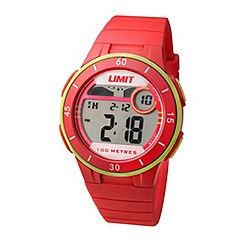Limit - Unisex red digital mulifunctional silicone strap watch