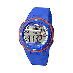 Limit - Unisex blue digital mulifunctional silicone strap watch