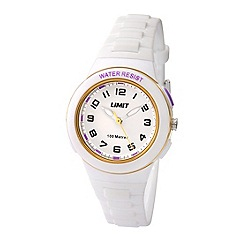 Limit - Childrens white plastic strap watch