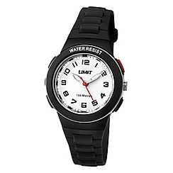 Limit - Childrens black plastic strap watch