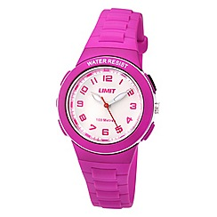 Limit - Childrens pink plastic strap watch