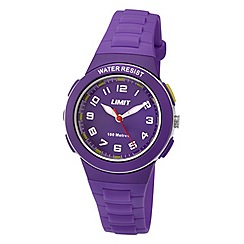 Limit - Childrens purple plastic strap watch
