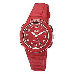 Limit - Childrens red plastic strap watch