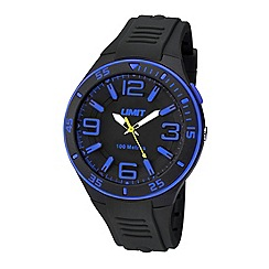 Limit - Unisex black silicone strap watch