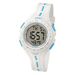 Limit - Childrens white digital plastic strap watch