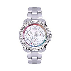 Juicy Couture - Ladies stainless steel bracelet watch with rainbow crystal dial
