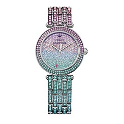 Juicy Couture - Ladies green and purple ombre stone set bracelet watch