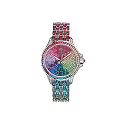 Juicy Couture - Ladies rainbow stone set bracelet watch