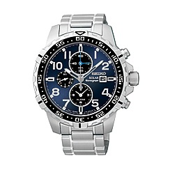Seiko - Men's solar chronograph silver bracelet watch