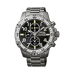 Seiko - Men's solar chronograph grey bracelet watch ssc307p9