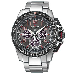 Seiko - Men's prospex chronograph silver bracelet watch