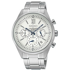 Seiko - Men's chronograph silver bracelet watch