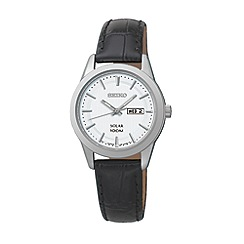 Seiko - Women's solar leather strap watch