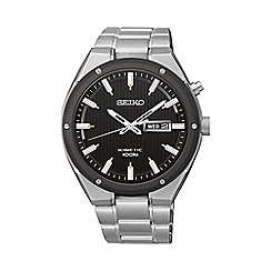 Seiko - Men's kinetic silver bracelet watch