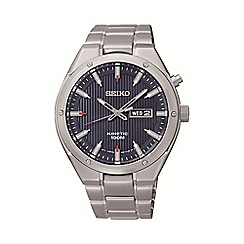 Seiko - Men's kinetic silver bracelet watch smy149p1