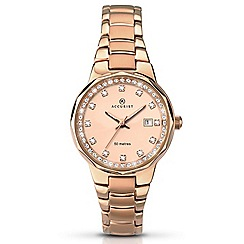 Accurist - Ladies rose gold plated bracelet dress watch