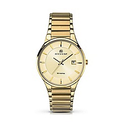 Accurist - Mens gold plated stainless steel bracelet watch