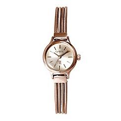 O.W.L - Ladies rose gold 'Chatsworth' bracelet watch