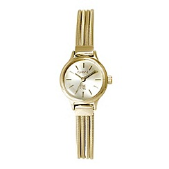 O.W.L - Ladies gold 'Chatsworth' bracelet watch