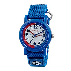 Tikkers - Time teacher blue football velcro watch
