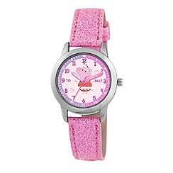 Peppa Pig - Girls pink glitter time teacher watch