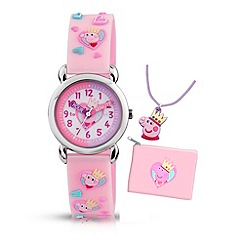 Peppa Pig - Girls pink time teacher watch
