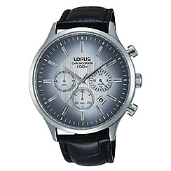 Lorus - Gents blue gradation dial leather strap chronograph