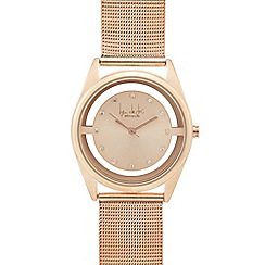 Principles by Ben de Lisi - Rose gold mesh analogue watch